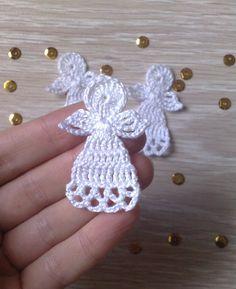 set of 3 Crochet Christmas angels Christmas tree by ElenaGift