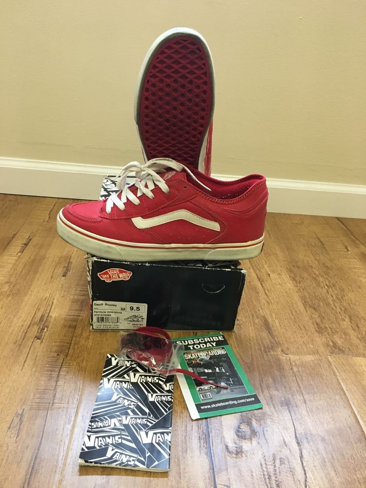VANS Geoff Rowley classic shoes sz 9.5 men barley worn RARE