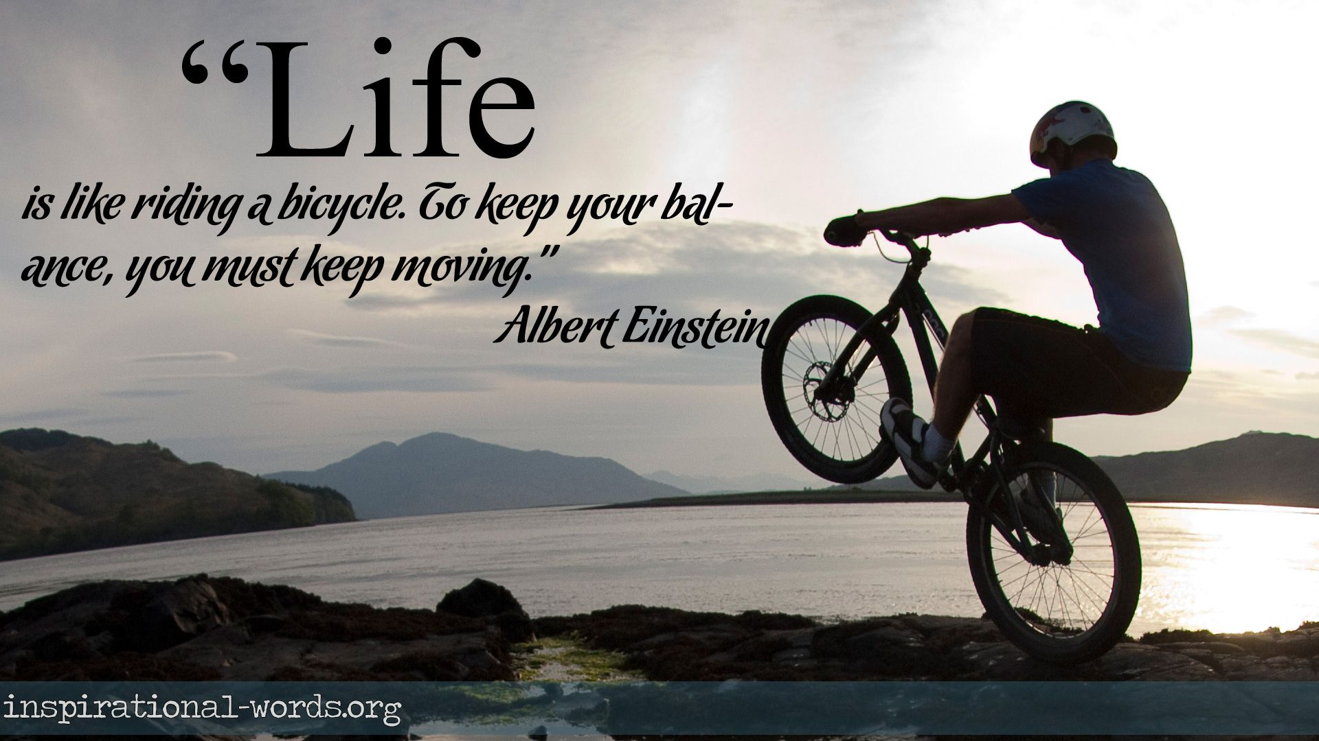 Inspirational Wallpaper Quote By Albert Einstein Life Is Like