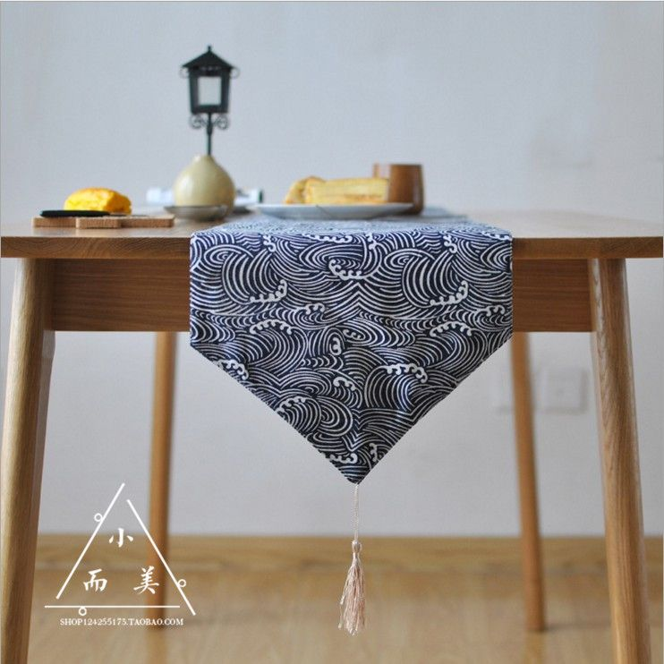 New Classical Japanese Folk Style Table Runner Traditional Style Table Cloth  Cotton Cloth Tea Cloth