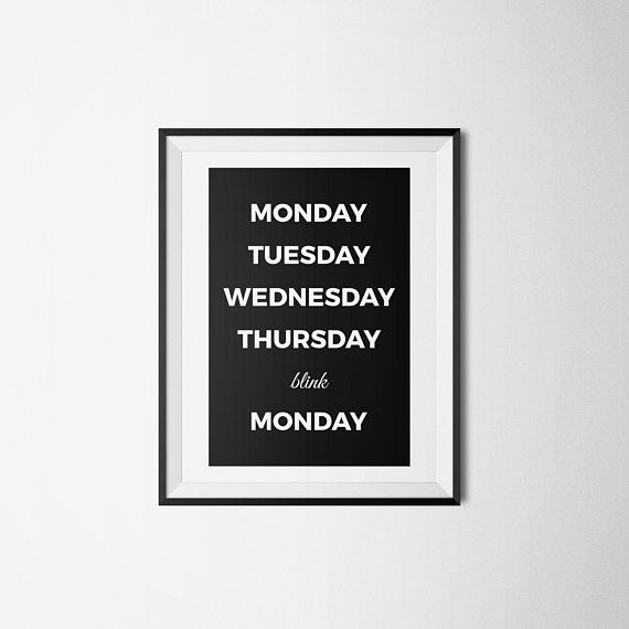 Weekend Print, Days of Week Print, Funny Weekend Print, Funny Office Decor, Funny Wall Art, Funny Bedroom Decor, Weekend Humor, Dorm Decor #3dayweekendhumor