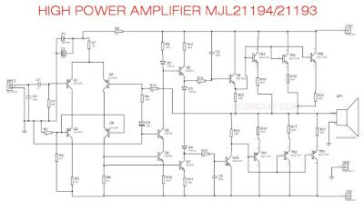 high power audio amplifier mjl21194, mjl21193 power amplifierhigh power audio amplifier mjl21194, mjl21193