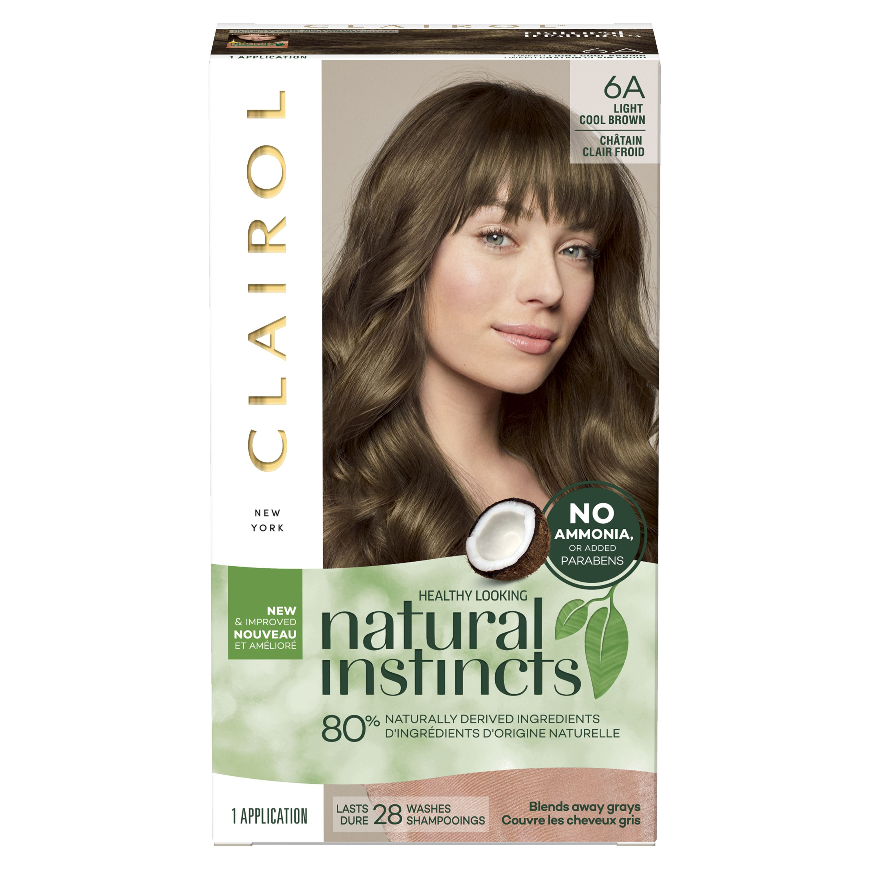 Clairol Natural Instincts Hair Color 6a Light Cool Brown Walmart Com Clairol Natural Instincts Clairol Natural Non Permanent Hair Color