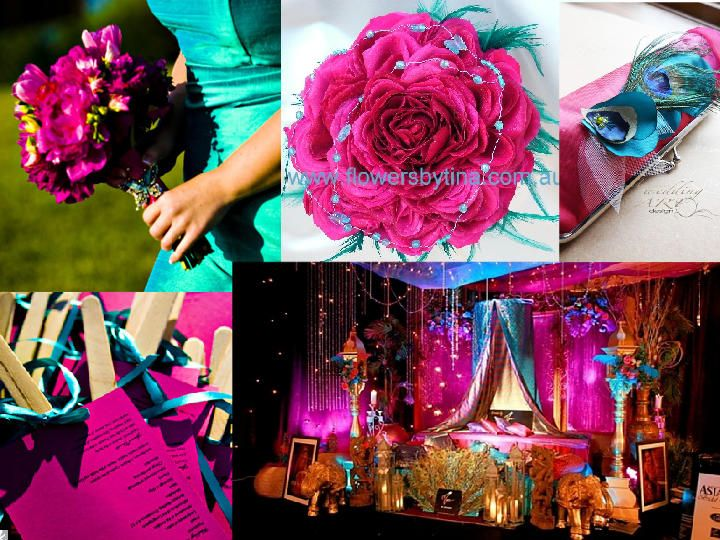 Wedding Colors Hot Pink And Turquoise Blue Attire Inspiration Boards Accessories Weddings