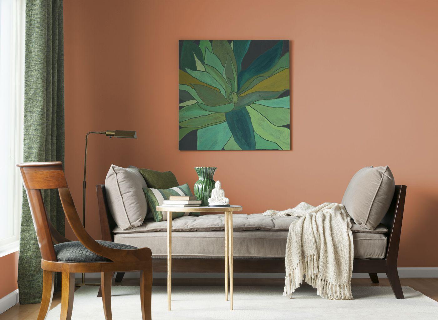 Living Room In New Terra Cotta
