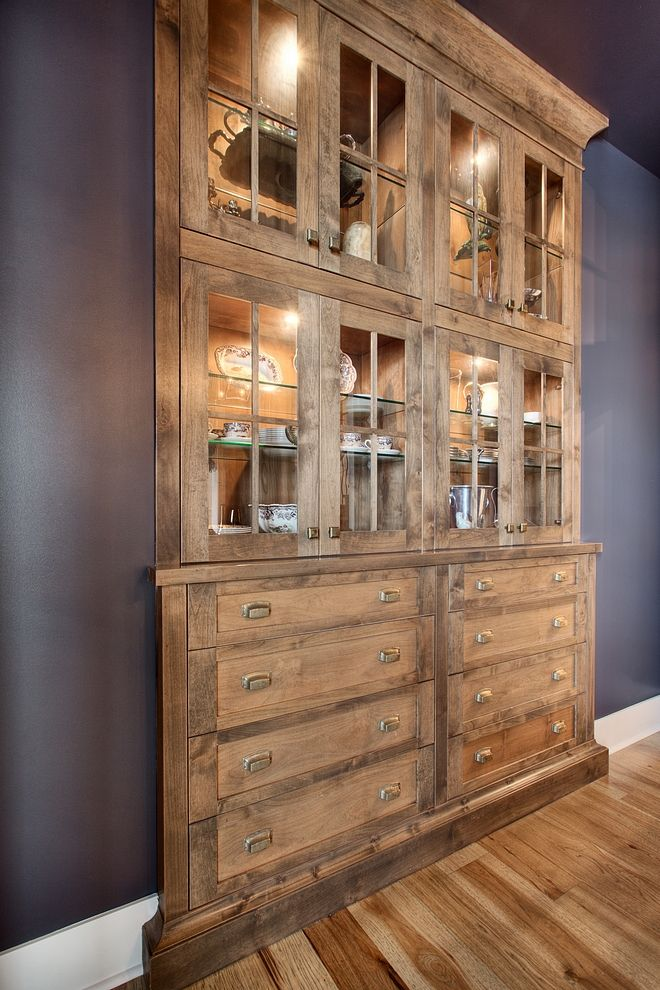 Hutc Cabinet Built in Hutch Dining room with built in