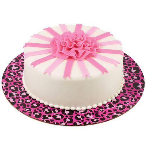 Hot Spots! Pink Ribbon Rose Cake | Rose cake, Leopard cake ...