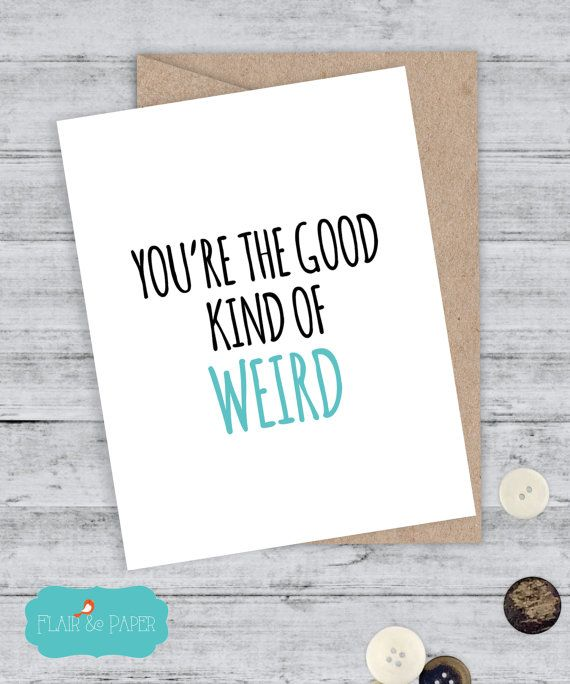 Funny Boyfriend Card Funny Card Snarky Card Awkward Card Quirky