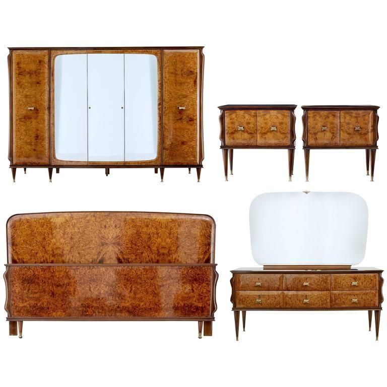 Best 20Th Century Italian Walnut And Mahogany Bedroom Suite 640 x 480
