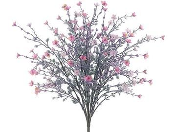 Pink And Lavender Faux Star Flower Bush Flowers Silk Flowers Artificial Flowers