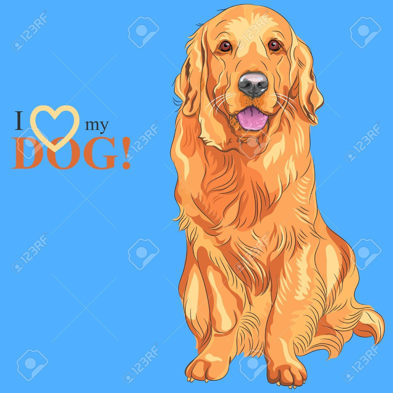 Labrador Retriever Cliparts Stock Vector And Royalty Free Labrador Retriever Illustrations Golden Retriever Breed Dogs Golden Retriever Golden Retriever