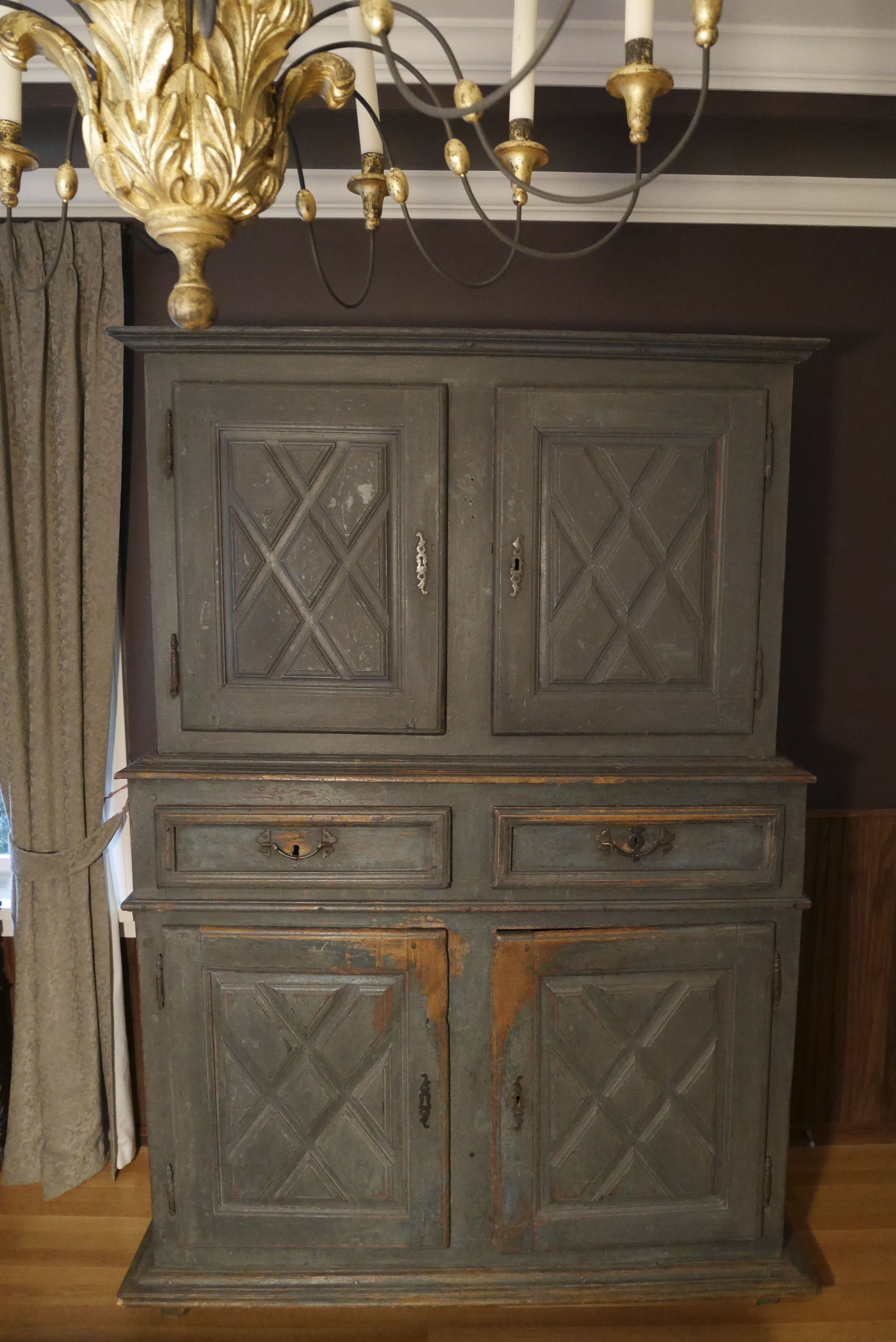 Reproduction Meubles Anciens Québec Quebec Buffet Deux Corps 1720 French Canadiana Furniture Pine