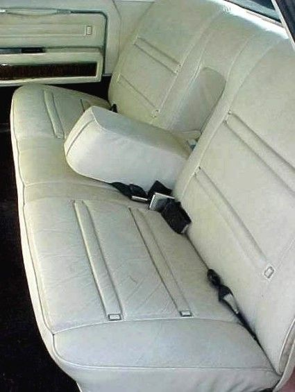 1969 lincoln continental town car interior option shown in white