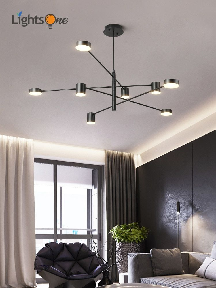 Simple Modern Pendant Lights Living Room Atmospheric Home Restaurant Creative Persona Living Room Pendant Chandelier In Living Room Modern Living Room Lighting