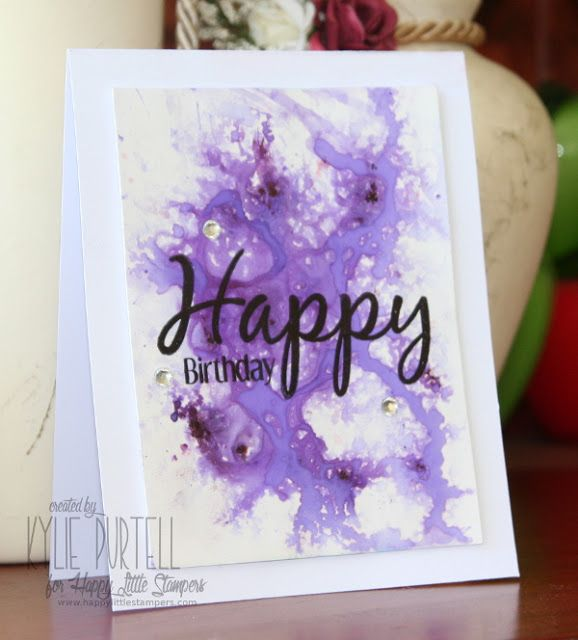Kylie Purtell, Happy Little Stampers, Everyday Sentiments, Brushos, Glossy Cardstock, Rhinstones