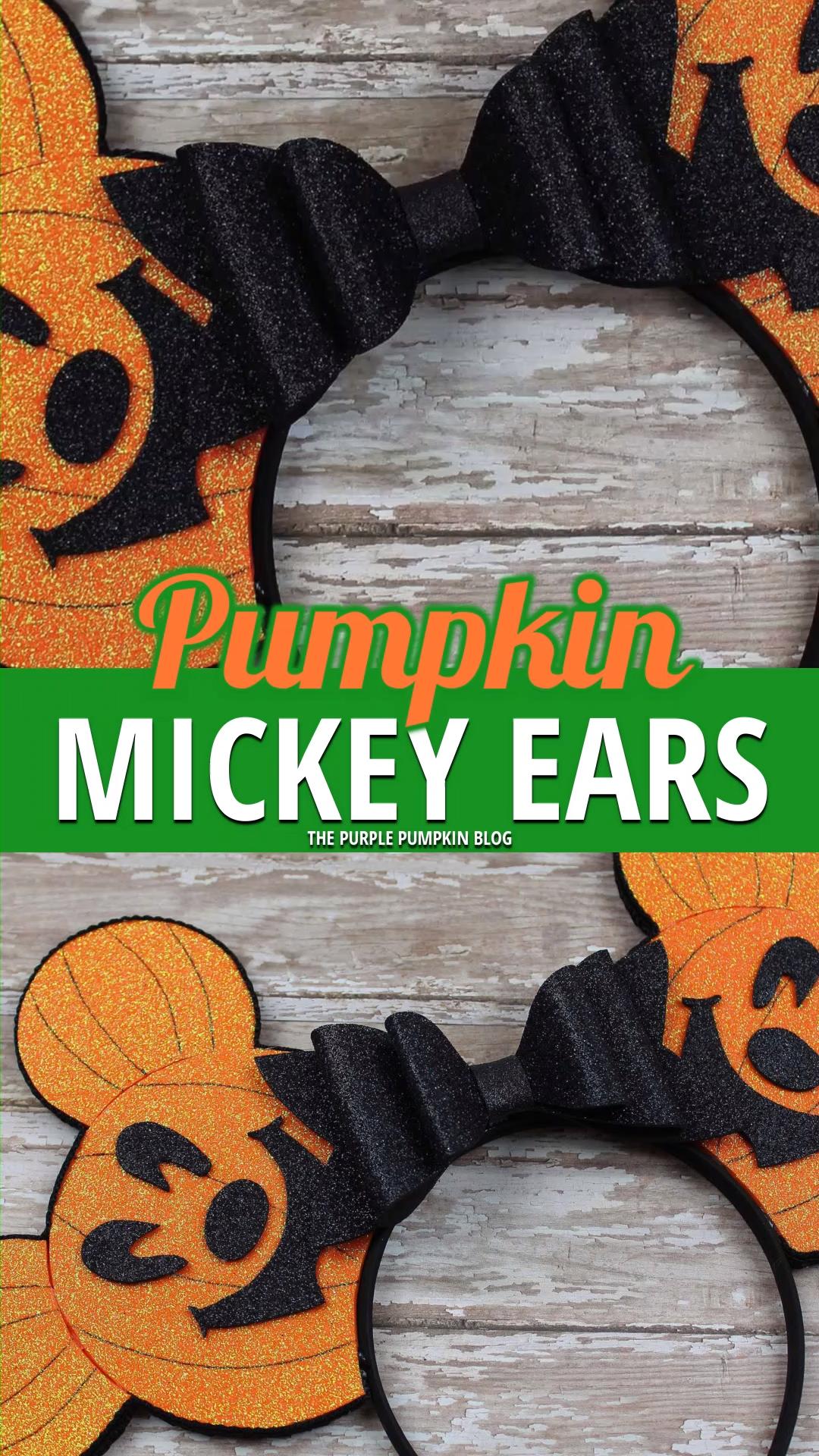 How To Make Pumpkin Mickey Ears! No-Sew Tutorial!