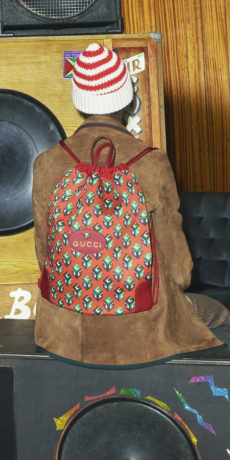 358ea87cba5f GG Supreme drawstring backpack - Gucci Men's Backpacks 473872K9RKT8858