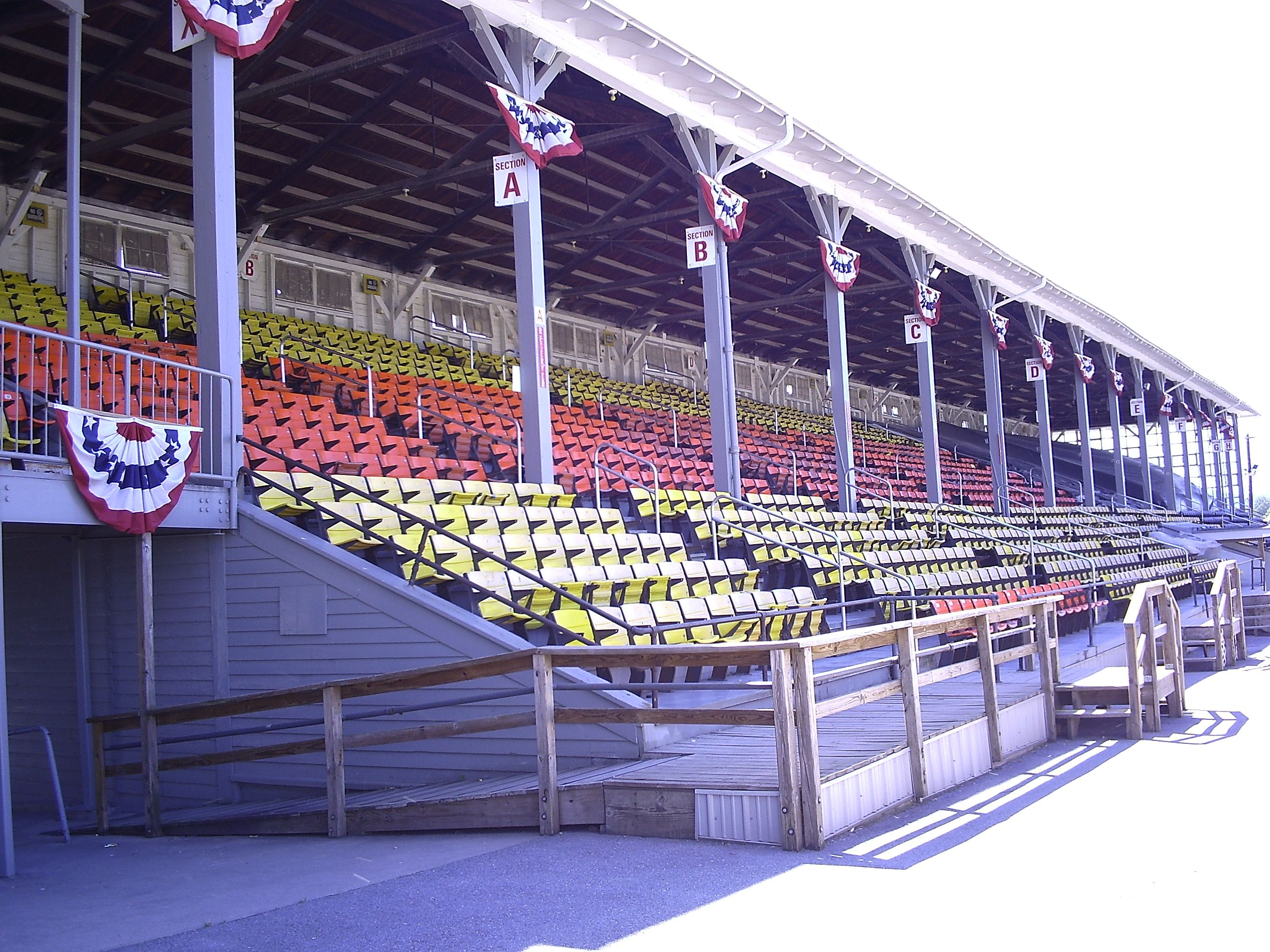 Large Grandstand You could rent this! (240' x 34