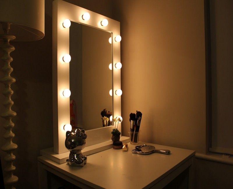 bedroom vanity with mirror and lights | corepad.info | Pinterest ...