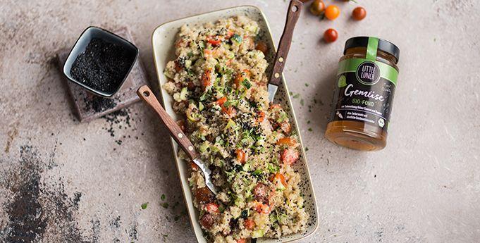 Rezept: Mediterraner Quinoa Salat | Rezept | Quinoa salat