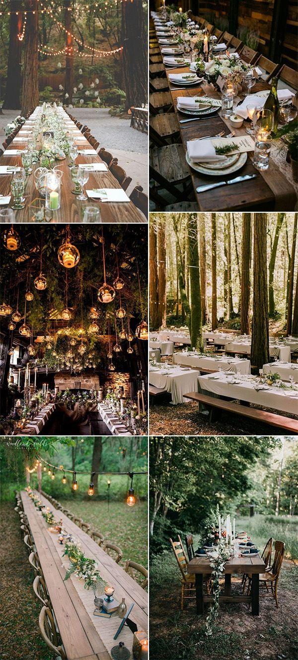 Wedding reception wedding decor ideas   Enchanting Woodland Wedding Ideas That Inspire  Page  of