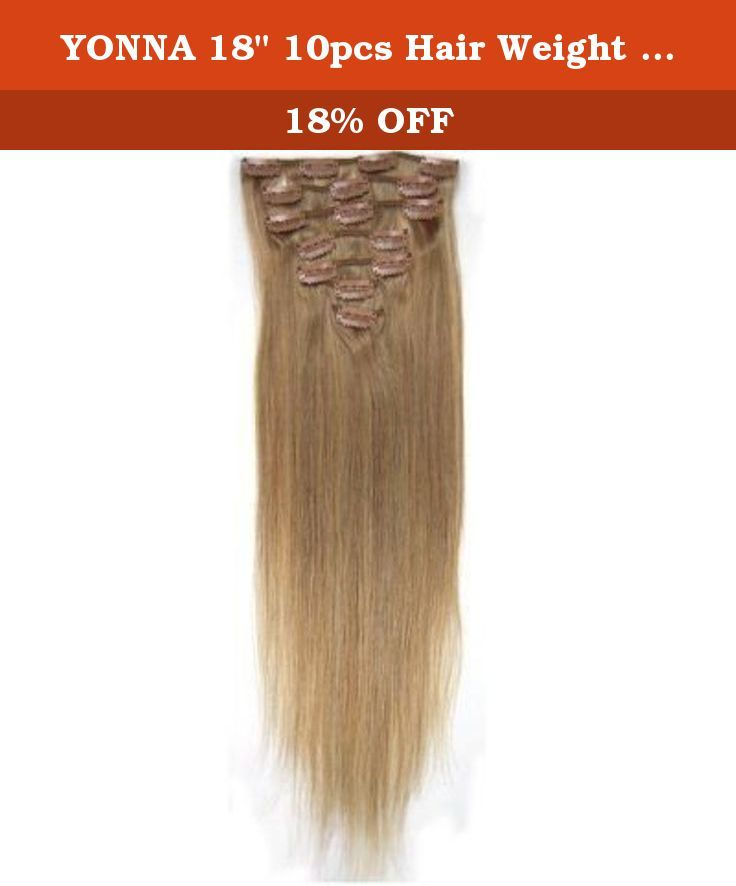 Yonna 18 10pcs Hair Weight 35oz Clips In Remy Human Hair