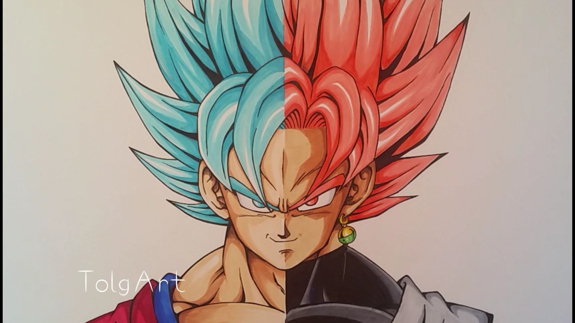 Drawing Goku Vs Black Goku Super Saiyan Blue Vs Rose