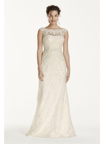 48f6848bea Melissa Sweet Illusion Sleeve Lace Wedding Dress MS251124
