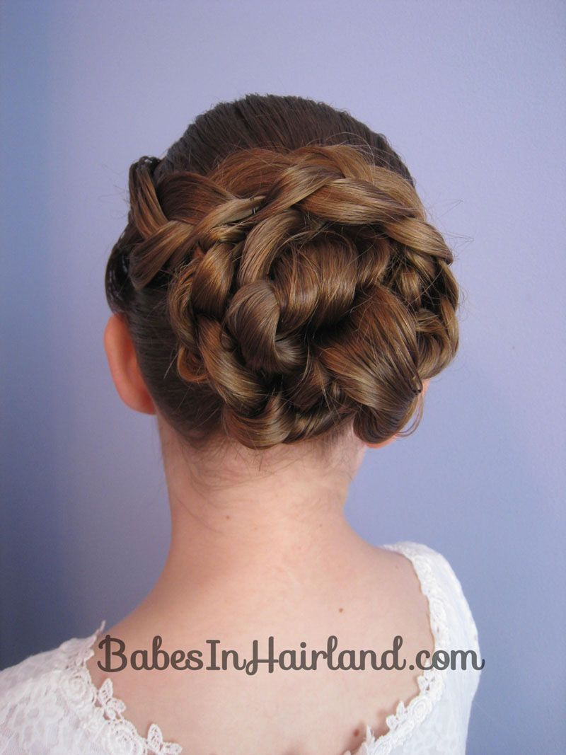 Easy braid u knotted bun updo from babesinhairland updo braids