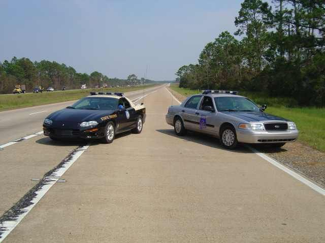 Florida And Alabama Highway Patrol On I 10 In Gautier Mississippi