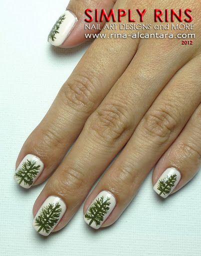 Pine Trees Nail Art Design You Nailed It Tree Nail Art Tree
