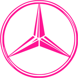 Deep Pink Mercedes Benz Icon Free Deep Pink Car Logo Icons Car Logos Mercedes Logo Pink Car