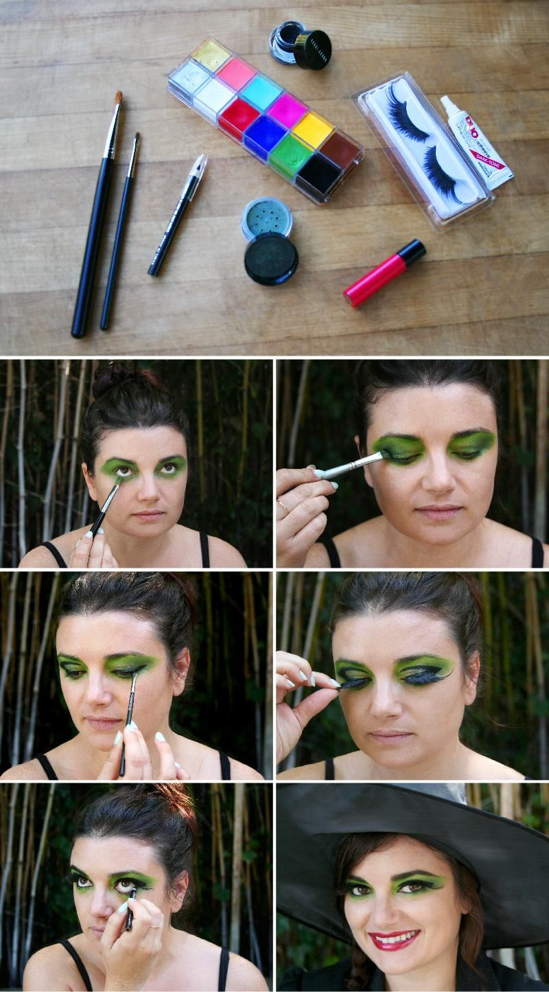 Easy Witch Makeup For Halloween Halloween Makeup Witch Halloween Makeup Diy Witch Makeup