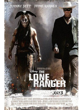 THE LONE RANGER MOVIE POSTER 2 Sided ORIGINAL 27x40 JOHNNY DEPP