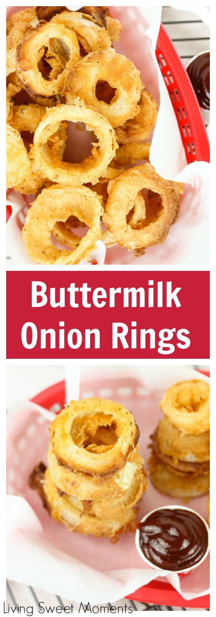 Easy Buttermilk Onion Rings Recipe Buttermilk Recipes Onion Rings Food