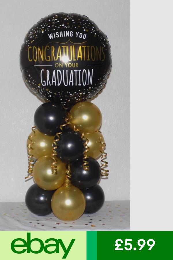 Graduation Congratulations Exam Foil Balloon Table Decoration Display Kit Balloon Decorations Graduation Graduation Balloons Graduation Center Pieces