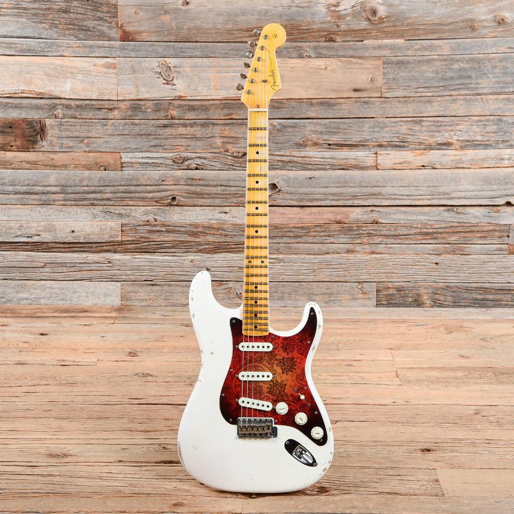 Fender Cs Ancho Poblano Stratocaster Journeyman Relic White Blonde 2016 White Blonde Fender Custom Shop Relic