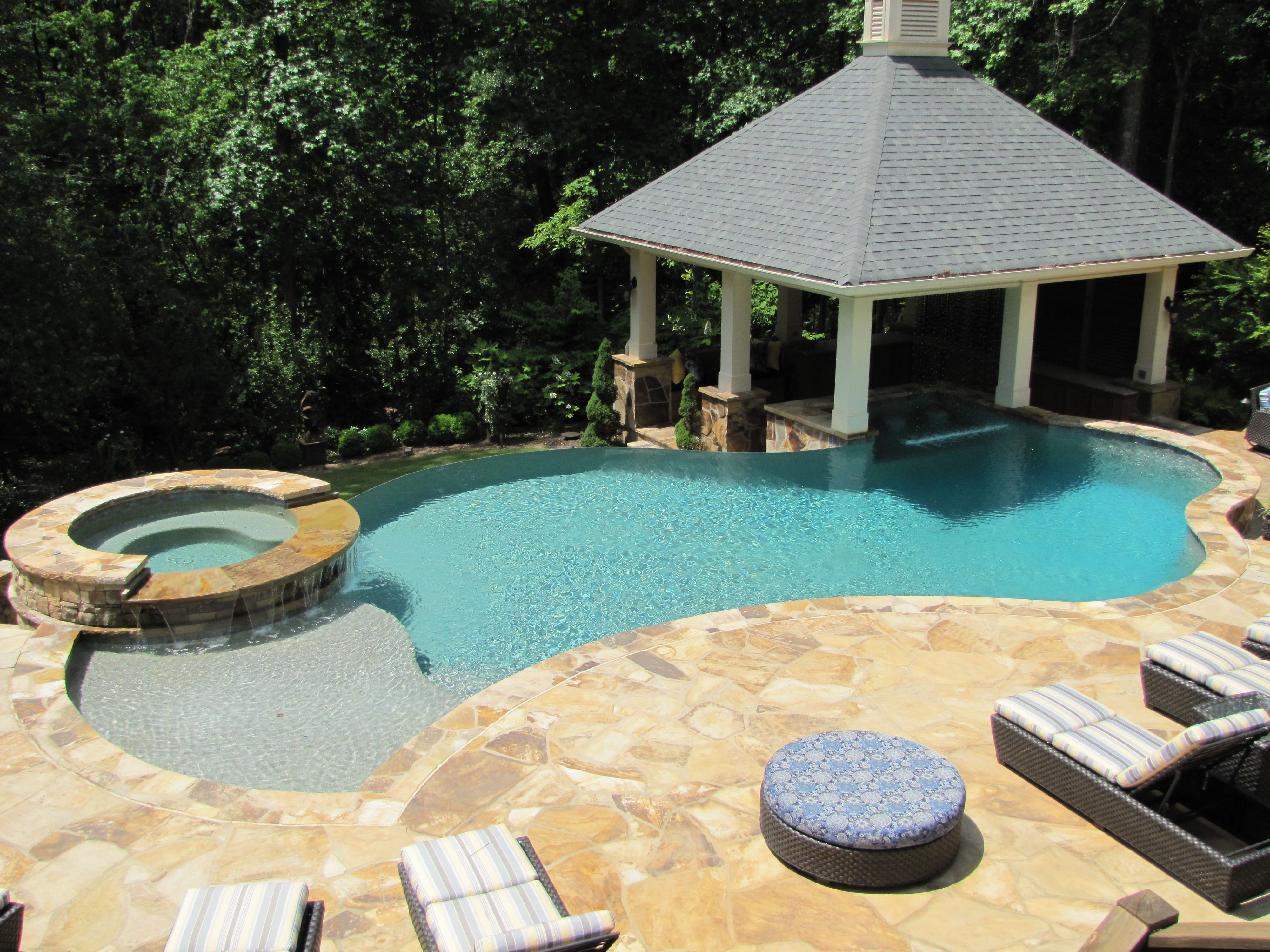 pool designs with swim up bar. Amazing Pool Set Up! Swim Up Bar, Negative Vanishing Edge And Raised Spa Area Designs With Bar