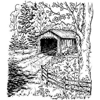 Covered Bridge Coloring Pages Colorful Pictures Coloring Pictures