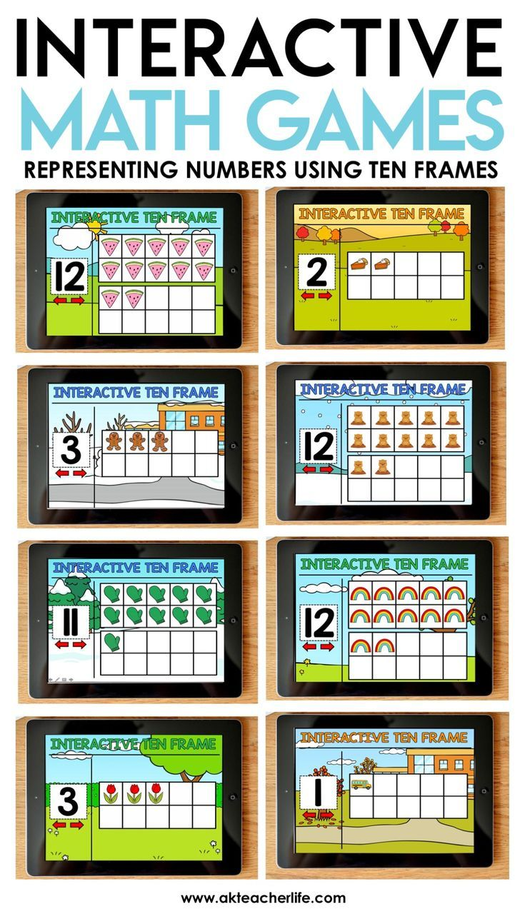 Interactive Ten Frame Math Games The Bundle | Ten frames, Guided ...
