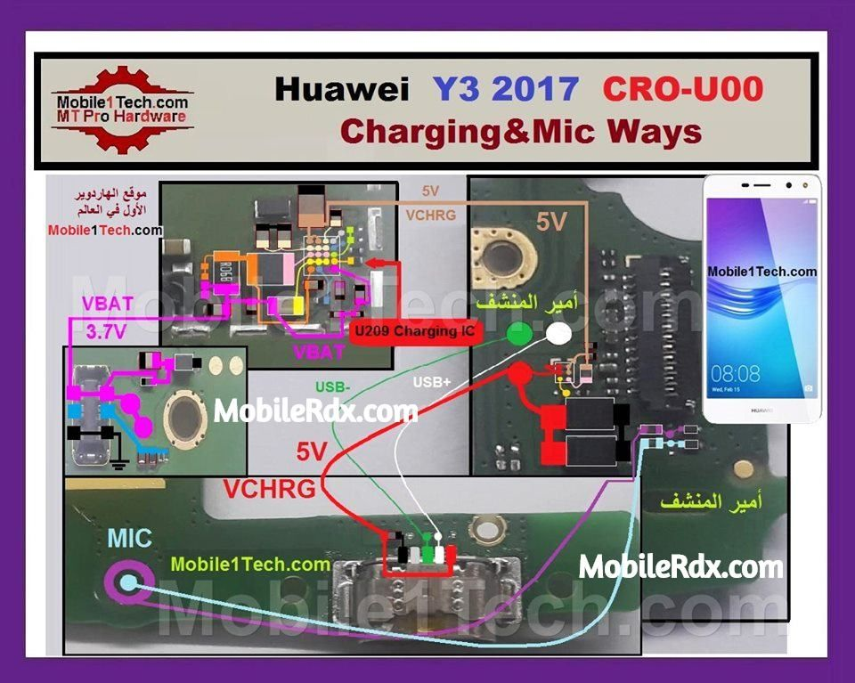 Huawei Y3 (2017) Charging Ways And USB Jumper Solution | MobileRdx