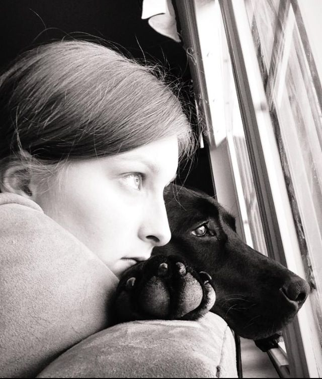 Deep moments between a girl and her dog