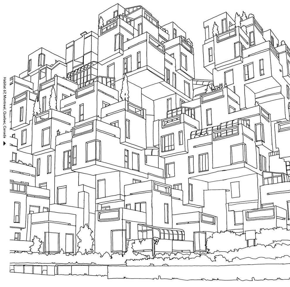 Dream Cities Coloring Book