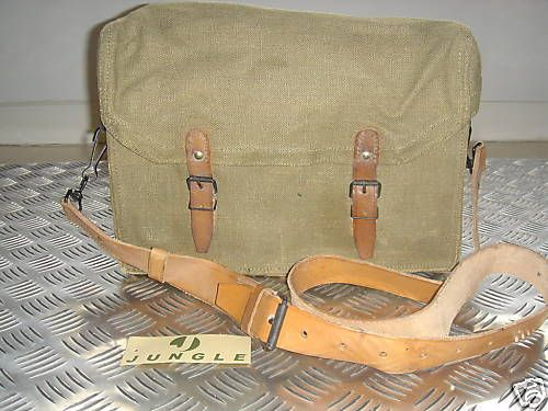 Genuine French Army Bag. Leather Lined and Unique