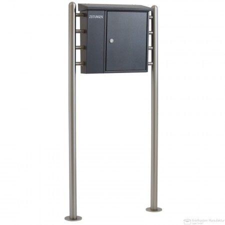 standbriefkasten mit briefkasten heibi 43661 039. Black Bedroom Furniture Sets. Home Design Ideas