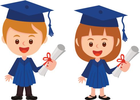 452203305 graduation boy and girl gettyimages jpg 489 350 rh pinterest com graduation clipart black and white graduate clipart christian