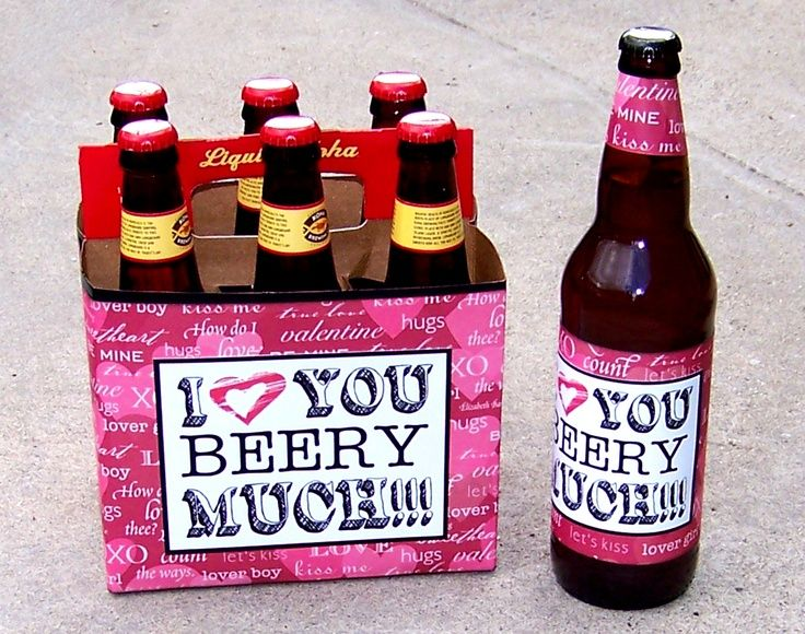 Valentine\'s Day Gift for Him... I Love You Beery Much | homemade ...