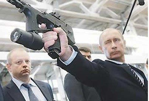 Oh, I'm sorry. Were you planning on having peaceful talks with Russian Prime Minister Vladimir Putin? Yeah, go head and try your hand at diplomacy when he's SHOOTING YOU WITH A HARPOON. The guy's a total badass.