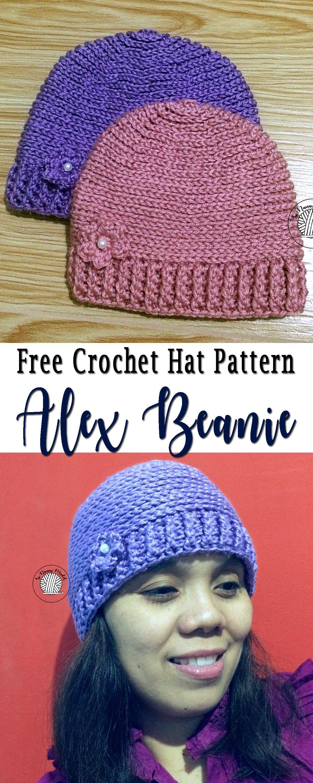 Alex Beanie | Crochet Hats | Pinterest | Gorros, Tejido y Gorritas ...