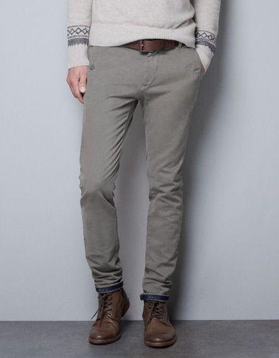 pantalon bordeaux homme zara
